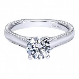 Gabriel 14 Karat Contemporary Engagement Ring ER10206W4JJJ