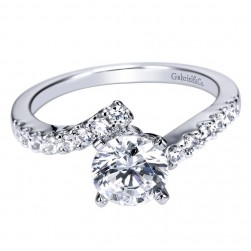 Gabriel 14 Karat Contemporary Engagement Ring ER4249W44JJ