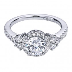 Gabriel 14 Karat Contemporary Engagement Ring ER6277W44JJ