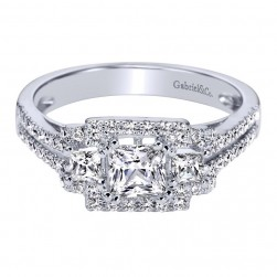 Gabriel 14 Karat Contemporary Engagement Ring ER95334W44JJ
