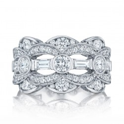 HT2618B12 Platinum Tacori RoyalT Diamond Wedding Ring