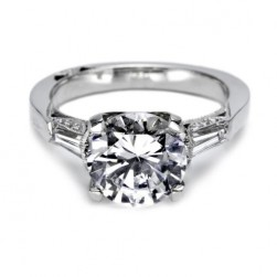 Tacori Platinum Simply Tacori Solitaire Engagement Ring 2575RD9