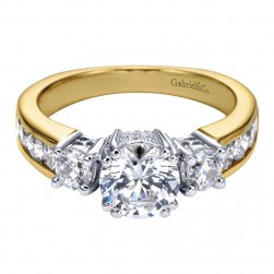 Gabriel 14 Karat Contemporary Engagement Ring ER3960M44JJ