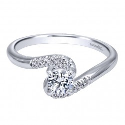 Gabriel 14 Karat Contemporary Engagement Ring ER910943W44JJ