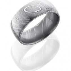 Lashbrook D10D Polish Damascus Steel Wedding Ring or Band