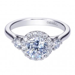 Gabriel 14 Karat Contemporary Engagement Ring ER7482W44JJ