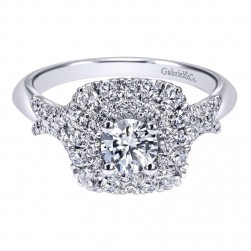 Gabriel 14 Karat Contemporary Engagement Ring ER911710R2W44JJ