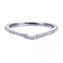 Gabriel 14 Karat Contemporary Wedding Band WB6553W44JJ