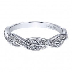 Gabriel 14 Karat Contemporary Wedding Band WB911864R0W44JJ