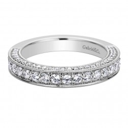 Gabriel 14 Karat Contemporary Wedding Band WB9251W44JJ
