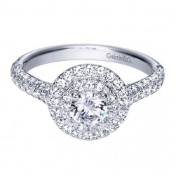 Gabriel 14 Karat Contemporary Engagement Ring ER8208W44JJ
