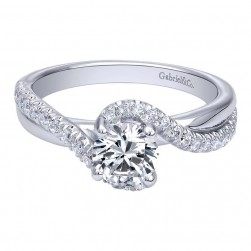 Gabriel 14 Karat Contemporary Engagement Ring ER10195W44JJ