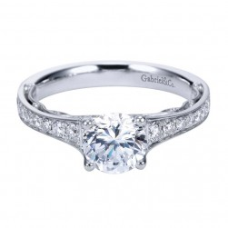 Gabriel 14 Karat Contemporary Engagement Ring ER7723W44JJ