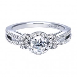 Gabriel 14 Karat Contemporary Engagement Ring ER7732W44JJ