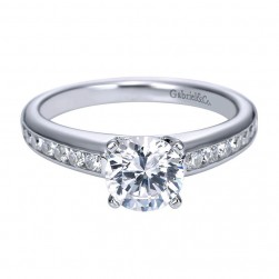 Gabriel 14 Karat Contemporary Engagement Ring ER8195W44JJ