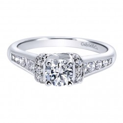 Gabriel 14 Karat Contemporary Engagement Ring ER910078W44JJ