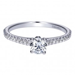Gabriel 14 Karat Contemporary Engagement Ring ER98509W44JJ