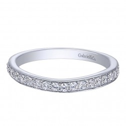 Gabriel 14 Karat Contemporary Wedding Band WB10267W44JJ
