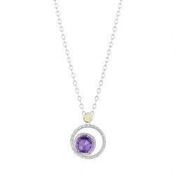 SN14101 Tacori 18k925 Necklace Silver & Gold