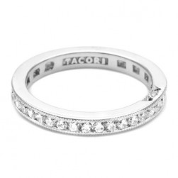 Tacori Platinum Crescent Silhouette Wedding Band 2636 BRDMDET
