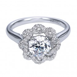 Gabriel 14 Karat Contemporary Engagement Ring ER7728W44JJ