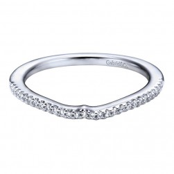 Gabriel 14 Karat Contemporary Wedding Band WB6012W44JJ