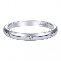 Gabriel 14 Karat Contemporary Wedding Band WB9615W44JJ