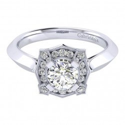 Gabriel 14 Karat Perfect Match Engagement Ring ER001B3ADW44JJ