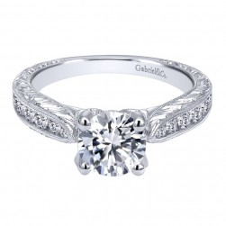 Gabriel 14 Karat Contemporary Engagement Ring ER10453W44JJ