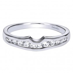 Gabriel 14 Karat Contemporary Wedding Band WB4352W44JJ