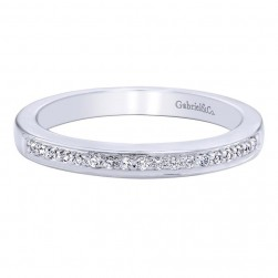 Gabriel 14 Karat Contemporary Wedding Band WB9584W44JJ