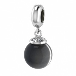 JLo Collection Endless Jewelry Grey Moon Eclipse Sterling Silver Charm 3371-1