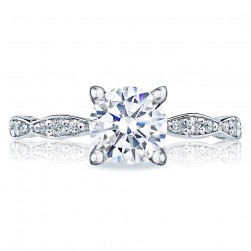 Tacori 46-2RD65 18 Karat Sculpted Crescent Engagement Ring