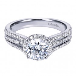 Gabriel 14 Karat Contemporary Engagement Ring ER7785W44JJ