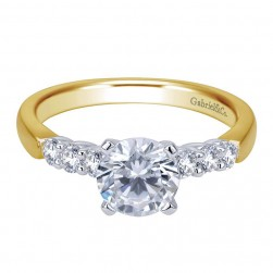 Gabriel 14 Karat Contemporary Engagement Ring ER7850M44JJ