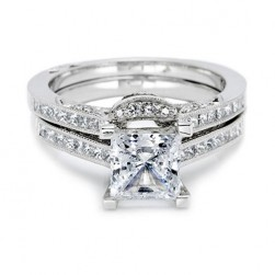 Tacori 2576B Platinum Wedding Band
