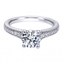 Gabriel 14 Karat Contemporary Engagement Ring ER10264W44JJ