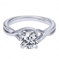 Gabriel 14 Karat Contemporary Engagement Ring ER10500W4JJJ
