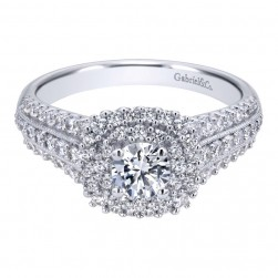 Gabriel 14 Karat Contemporary Engagement Ring ER911596R0W44JJ