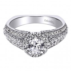 Gabriel 14 Karat Contemporary Engagement Ring ER96101W44JJ