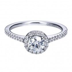 Gabriel 14 Karat Contemporary Engagement Ring ER96417W44JJ