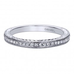 Gabriel 14 Karat Contemporary Wedding Band WB9524W44JJ
