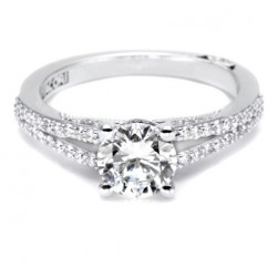 Tacori 18 Karat Simply Tacori Engagement Ring 3001