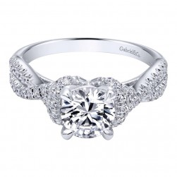 Gabriel 14 Karat Contemporary Engagement Ring ER10753W44JJ