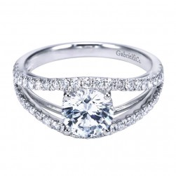 Gabriel 14 Karat Contemporary Engagement Ring ER7726W44JJ
