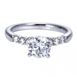 Gabriel 14 Karat Contemporary Engagement Ring ER7847W44JJ