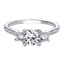 Gabriel 14 Karat Contemporary Engagement Ring ER9387W44JJ