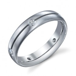 244591 Christian Bauer 14 Karat Diamond  Wedding Ring / Band