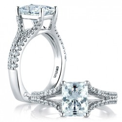 A.JAFFE Platinum Signature Engagement Ring MES570