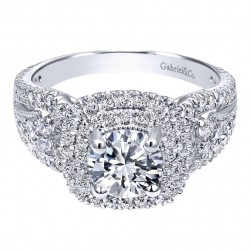 Gabriel 14 Karat Contemporary Engagement Ring ER10268W44JJ